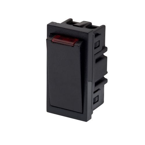 RT 20A DP Switch With Neon (25mmX50mm) Black 09039